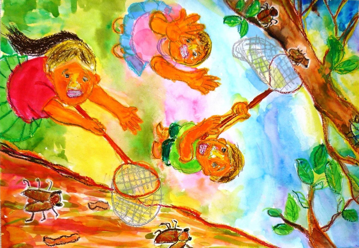 【最優秀賞】里 愛菜さん(4年生) 第11回環境絵画コンクール