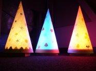 親子LED工作教室「クリスマスランプをつくろう!」作品イメージ