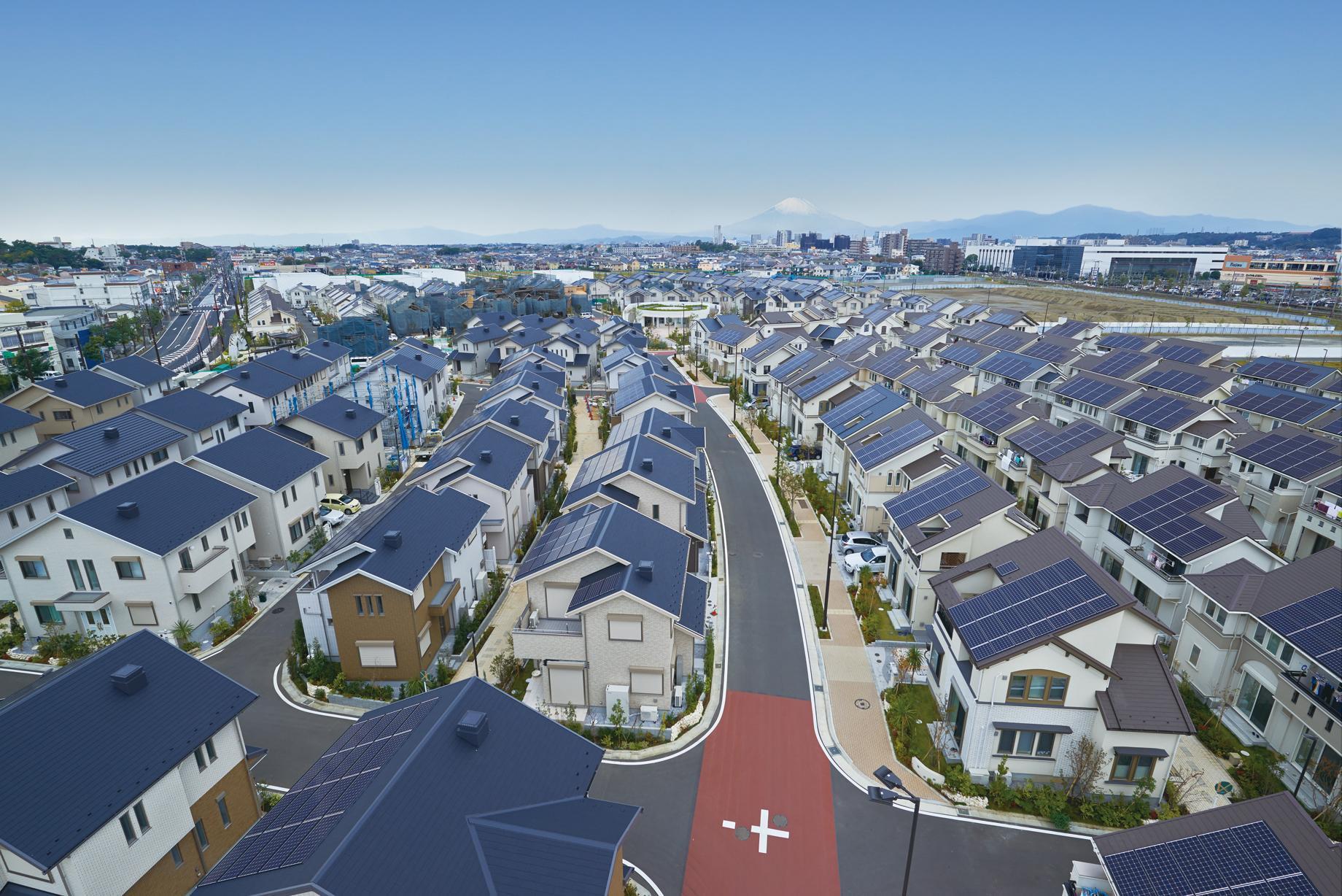 Fujisawa サスティナブル・スマートタウン(Fujisawa SST)の街並み