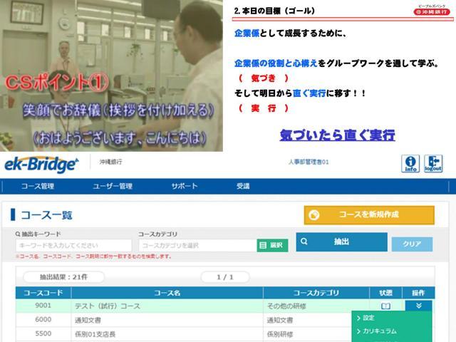 パナソニックが沖縄銀行様にクラウド型情報配信プラットフォーム「ek-Bridge」を納入~職員1,800人の自主学習・情報共有を支援