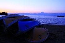 葉山町 写真3 「ボートと夕富士」