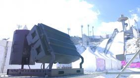 平昌2018冬季オリンピック「One Year to Go」イベント スキージャンプ会場の様子(1)