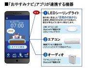 「おやすみナビ」アプリが連携する機器