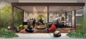 パナソニックセンター大阪 住空間展示「無邪気に遊び、無にひたれる自然とつながる家」(イメージ)