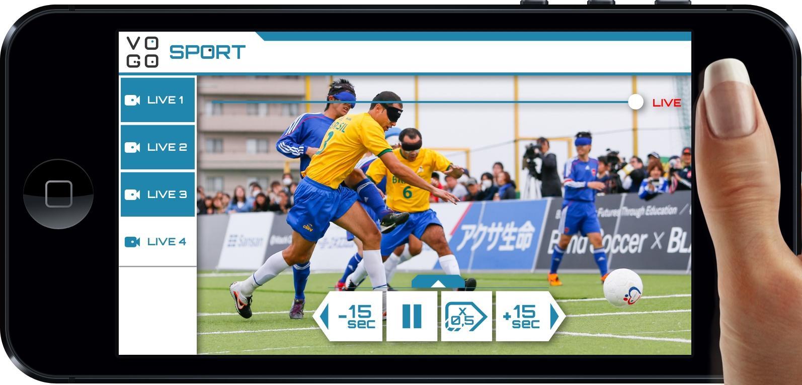 パナソニックがブラインドサッカーの国際親善試合で障がい者スポーツ観戦ソリューションの実証実験を実施