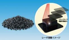 レーザ溶着対応ポリブチレンテレフタレート(PBT)樹脂成形材料 ブラックタイプの透過材