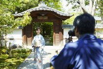 入り口でPaNカメラで撮影して専用の撮影カードを作成(圓徳院 入り口)