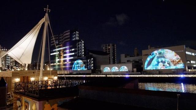 パナソニックが東京・天王洲運河でプロジェクションマッピング・ライトアップ連動演出の実証実験を実施
