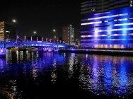 水辺空間の演出 実証実験の様子(東京・天王洲運河)(2)