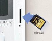 SDカード(別売品)に映像を録画