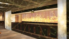アクロサインによる、「フエルサ ブルータ」ラウンジ空間演出イメージ