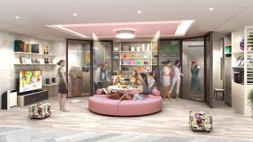 パナソニックセンター大阪 住空間展示「好きなものに囲まれる宝石箱リビング」(イメージ)