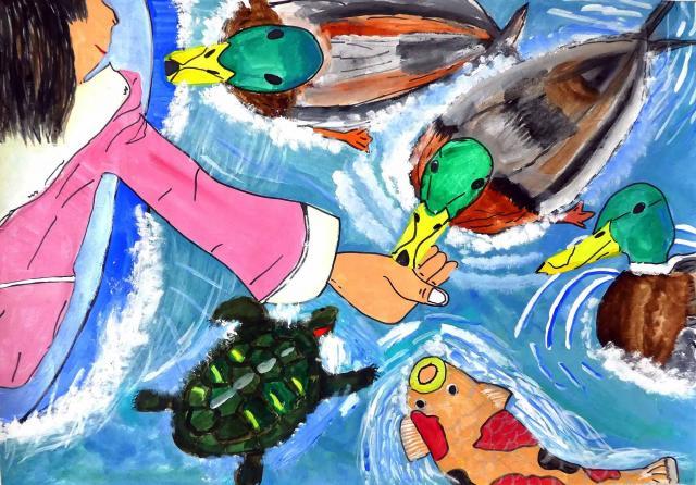 「生きものといっしょ」をテーマにした「第12回環境絵画コンクール」の優秀作品が決定【パナソニック エコシステムズ】