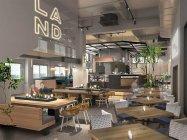 「100BANCH」1階にカフェ・カンパニーの新業態「LAND Seafood」がオープン