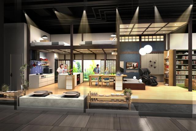 """パナソニックセンター大阪が民泊向け住空間展示をリニューアル~空き家を活用し、日本文化が体験できる""""民泊リフォーム""""を提案"""