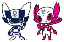 東京2020 マスコットの「ミライトワ」(左)と「ソメイティ」(右)