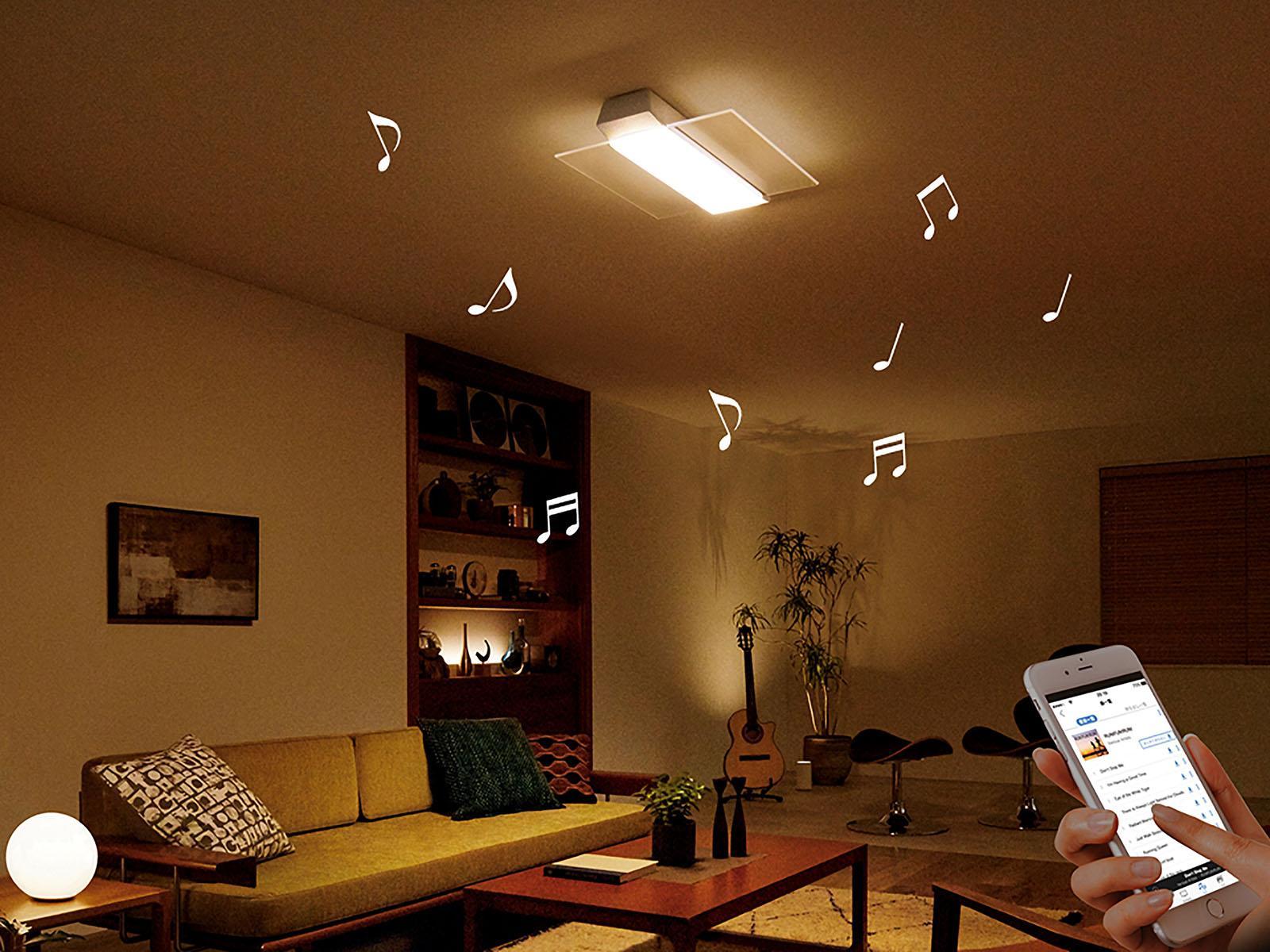 スピーカー搭載タイプ「AIR PANEL LED THE SOUND」(HH-XCC1288Aほか)