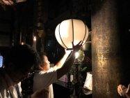 LED電球への交換シーン(清水寺・本堂)