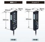 【図2】薄型サイズを実現(1)~透過型デジタル変位センサ HG-Tシリーズ