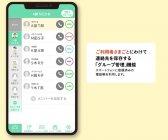 「グループ管理」機能(ケアモ連絡帳)