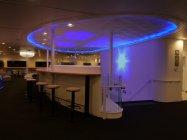 中央ロビー:プロジェクションマッピングのショーを上映(太平洋フェリー 新造船ニュー「きたかみ」)