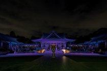 LEDフルカラー投光器「ダイナセルファー」による法多山尊永寺ライトアップ