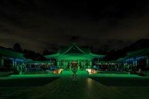 法多山尊永寺ライトアップ(緑)