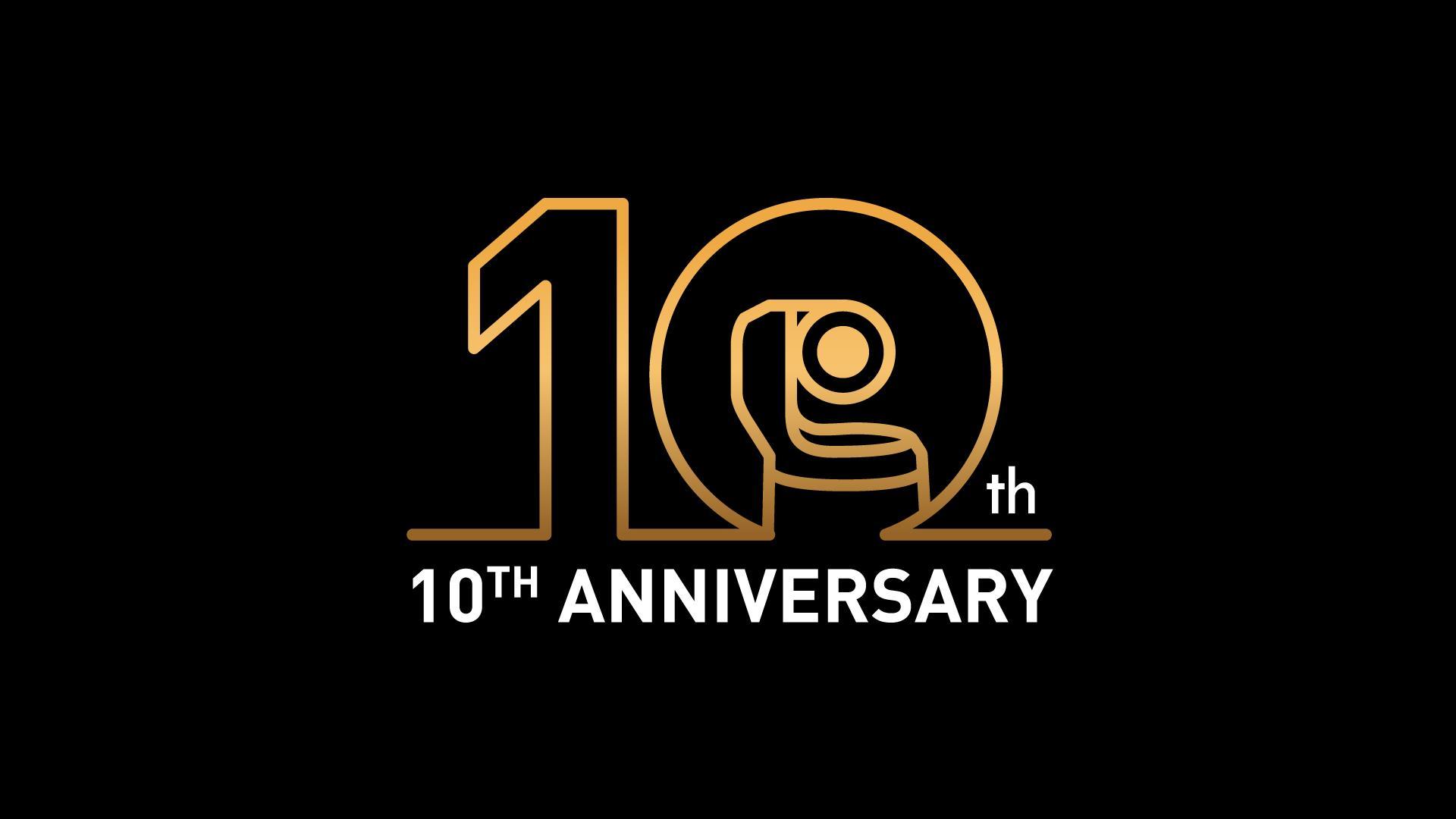パナソニックリモートカメラ10周年ロゴ