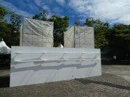 ビーチバレー会場近辺(潮風公園入口)に設置したグリーンエアコンFlex