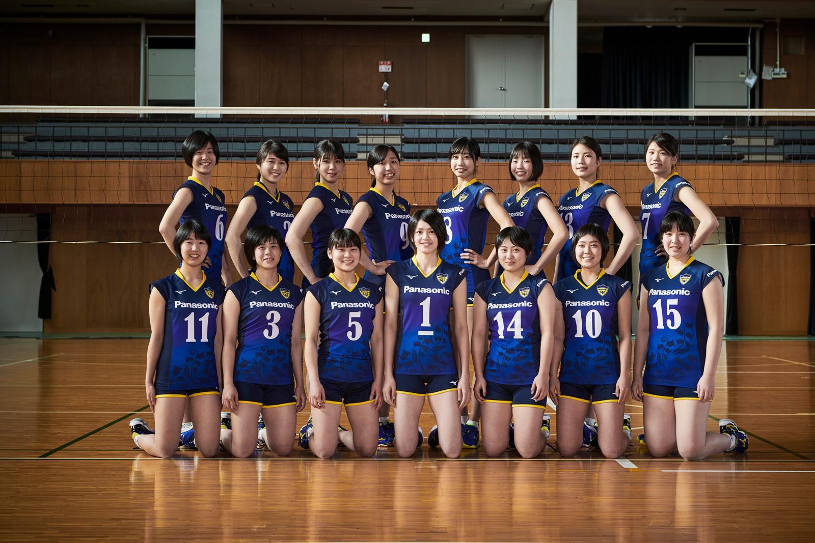 大阪府代表として国体に出場する女子バレーボール部「パナソニック ブルーベルズ」