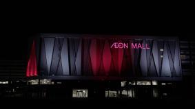 LEDフルカラー投光器で演出されたマレーシアの「イオンモール ニライ」 リアサイド