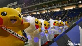 J1リーグ ガンバ大阪対サガン鳥栖戦試合終了後のパフォーマンス (c)2019 Pokémon (c)1995-2019 Nintendo/Creatures Inc./GAME FREAK inc.