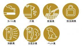 7種類の脱臭効果
