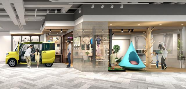 【パナソニックセンター大阪】住空間展示「家族の夢中を応援する家」をオープン ダイハツとのコラボレーションで子育て家族のくらしを提案