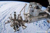 ISS 日本実験棟「きぼう」(JAXA/NASA提供)