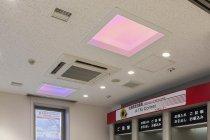 北海道信用金庫のATMコーナーに設置された「天窓照明」(今後ご採用予定の夕暮れ演出)1