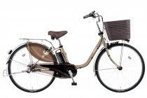 電動アシスト自転車「ビビ・DX」マットマロンベージュ(T2)