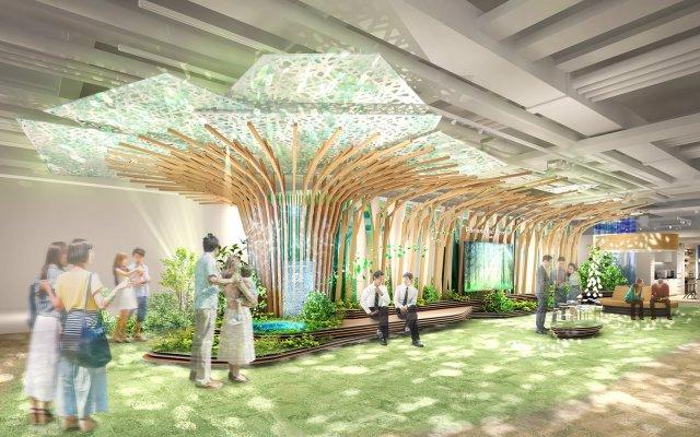 【パナソニックセンター大阪】心地よいくらしに出会うコミュニティエリアをオープン~パナソニックの空間ソリューション技術を活用した都市の中の森