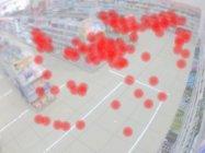 店舗の混雑度を示す画像(イメージ)