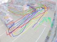 動線データ(軌跡)の表示画像(イメージ)