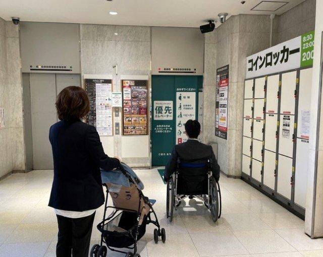 丸井錦糸町店と共同で優先エレベーター利用案内報知サービス実証実験を実施