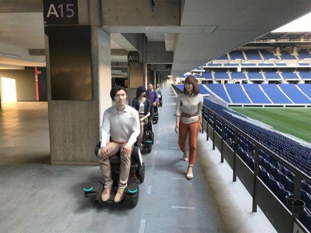 パナソニックスタジアム吹田でロボティックモビリティ「PiiMo」を活用したスタジアム「ライド周遊」ツアーの実証実験を実施