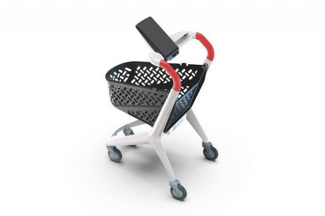 中国・SUPERHII(スーパーハイ)社製「セルフレジ機能付き スマートショッピングカート」の販売を開始 スムーズな買い物体験と⾮対面会計を実現