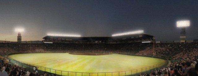 阪神甲子園球場が2021年度にスタジアム照明をLED化 パナソニックのLED照明の採用が決定 伝統的な情景を守りながら、新たな照明演出を実現