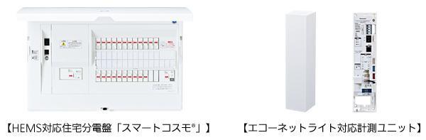 HEMS対応住宅分電盤「スマートコスモ(R)」、エコーネットライト対応計測ユニット