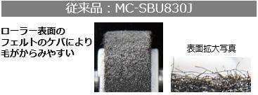 従来品:MC-SBU830Jのローラー表面