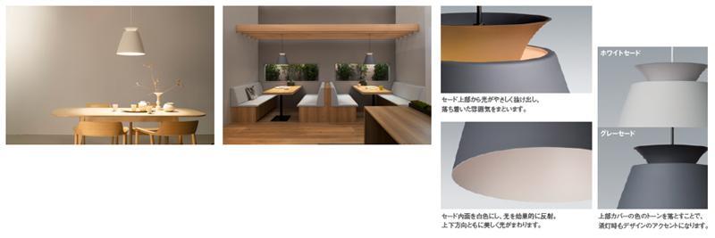 LEDフラットランプ ホワイトセード、グレーセード イメージ画像