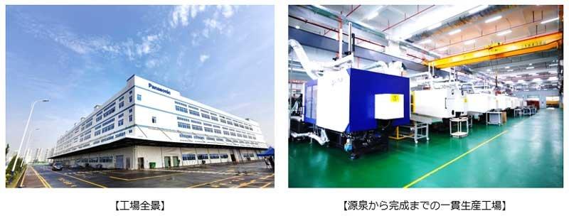 工場全景、源泉から完成までの一貫生産工場イメージ
