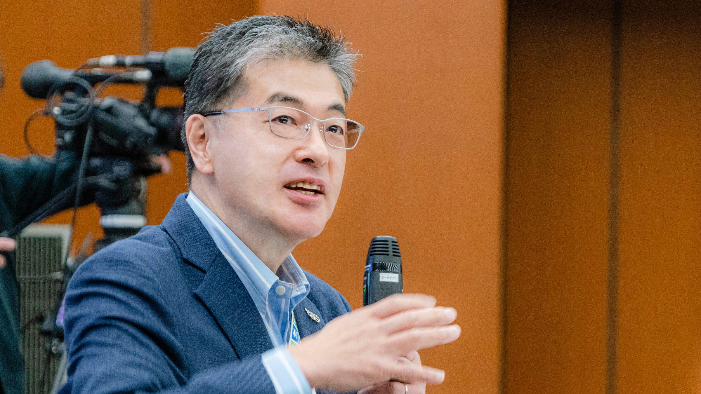 楠見CEO始動 新入社員へ示した、パナソニックの「これから」