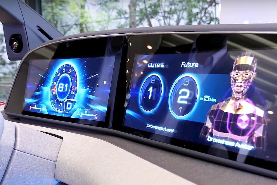 ダッシュボードにドライバーの現在と15分後の眠気レベルを表示